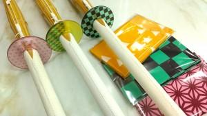 和柄の鍔、手拭
